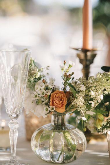 Single Flower Stems in Glass Vases