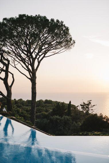Infinity Pool and Sunset on Isle of Capri