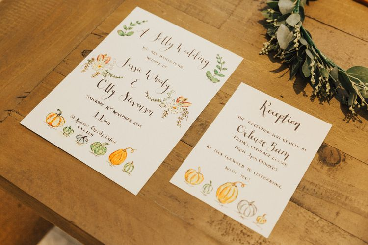 Wedding Stationery with Pumpkin Design