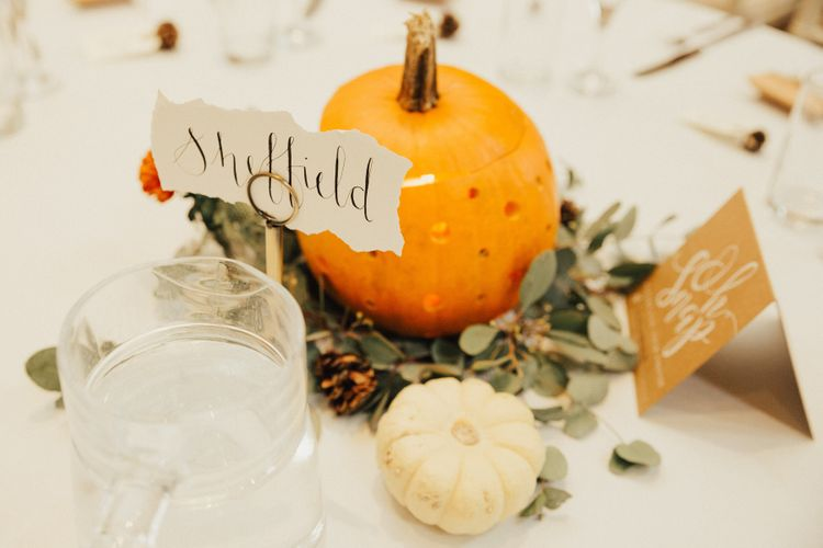 Wedding Table Names after Towns