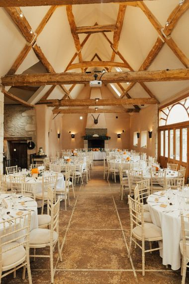 Rustic Barn Wedding Reception  at Oxleaze Barn