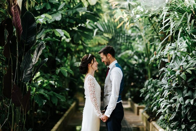 Bride and groom at Kew Gardens wedding