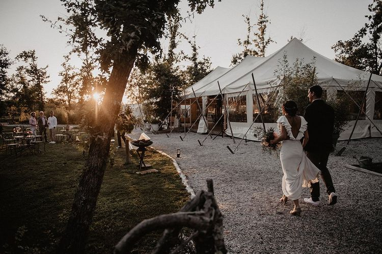 Marquee reception for intimate wedding