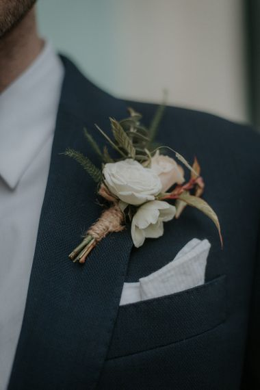 Groom Floral Buttonhole For City Wedding