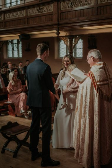 Wedding Cape At Church Ceremony In Kentish Town London