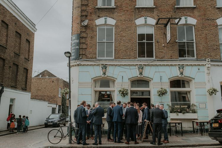 Pre-Ceremony Drink With Guests For London Wedding