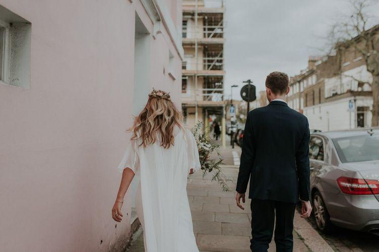 Bridal Cape For London Wedding