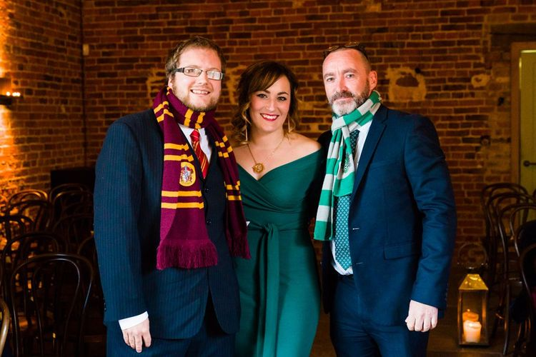 Wedding Guests in Harry Potter House Colours