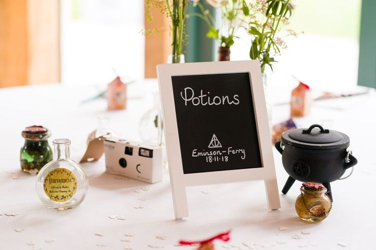 Potions Harry Potter Wedding Decor