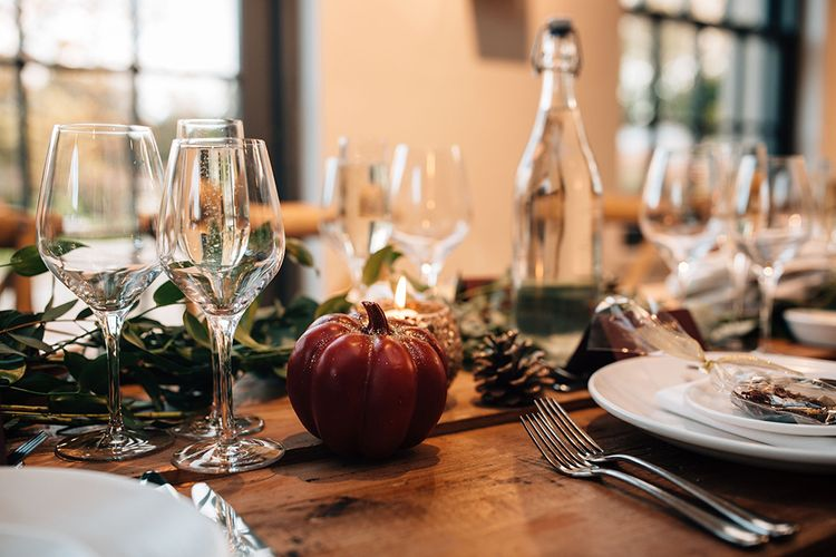 Pumpkin Wedding Table Decor
