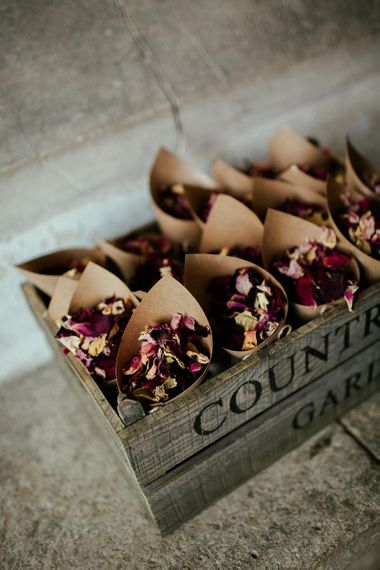 Dried Petal Confetti // Image By Eneka Stewart Photography