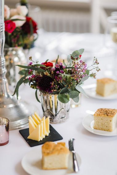 Floral wedding table decor