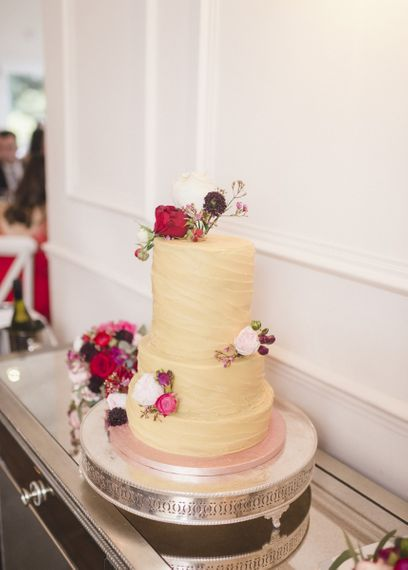 Wedding cake with floral decor