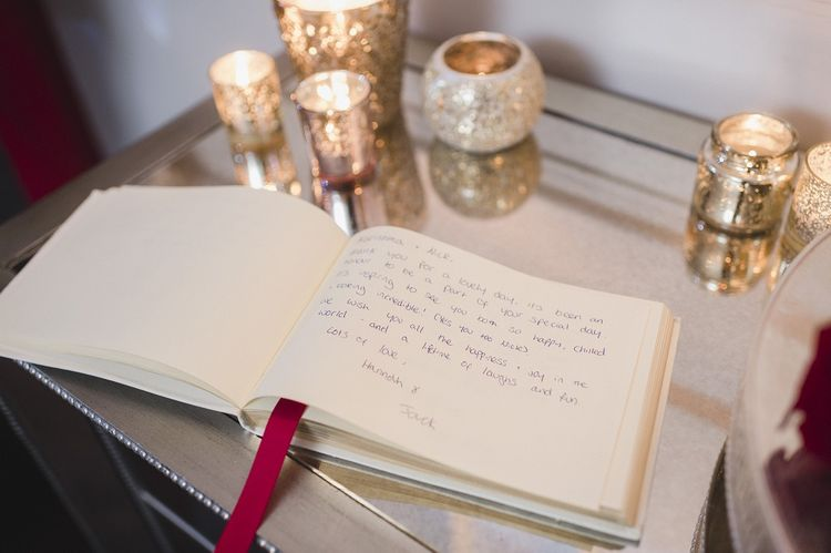 Guestbook at fusion wedding