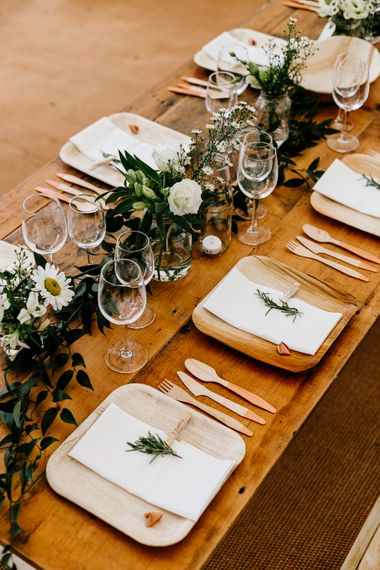Biodegradable Dinner Wear For Wedding // Bride In Floral Dress By Stephanie Allin Festival Wedding With Food Trucks & Outdoor Ceremony With Geo Dome Tent Baya Hire Epic Love Story Photography
