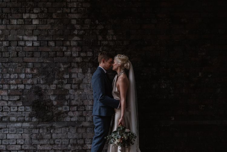 London Fields Brewery Wedding With Bride In Bespoke Dress By Katrine Mikklesen And Images From Taylor Hughes Photography