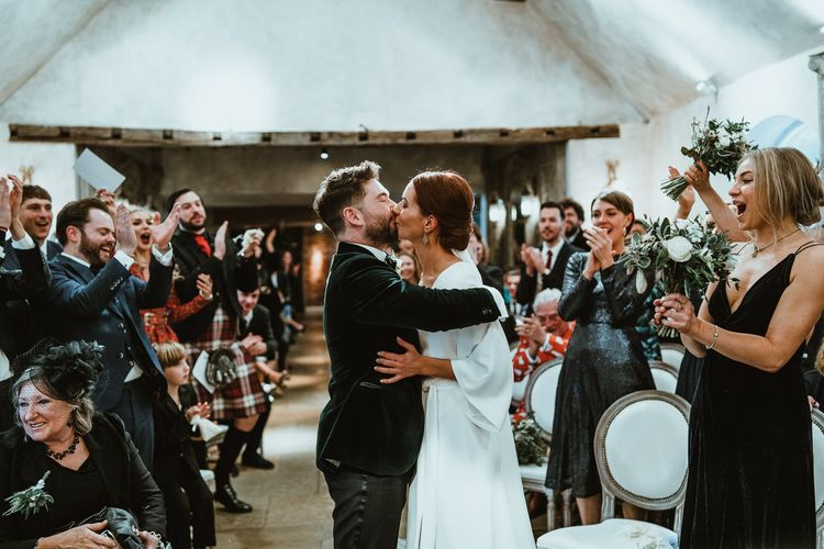 Bride and groom tie the knot at Le Petit Chateau in Northumberland with winter styling