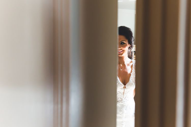 Bride Getting Ready For Wedding // Le Petit Chateau Northumberland Wedding Venue For Fun Wedding With Two Brides And Images From Willo Photography