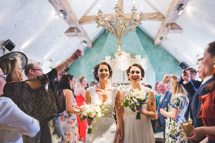 Just Married // Le Petit Chateau Northumberland Wedding Venue For Fun Wedding With Two Brides And Images From Willo Photography