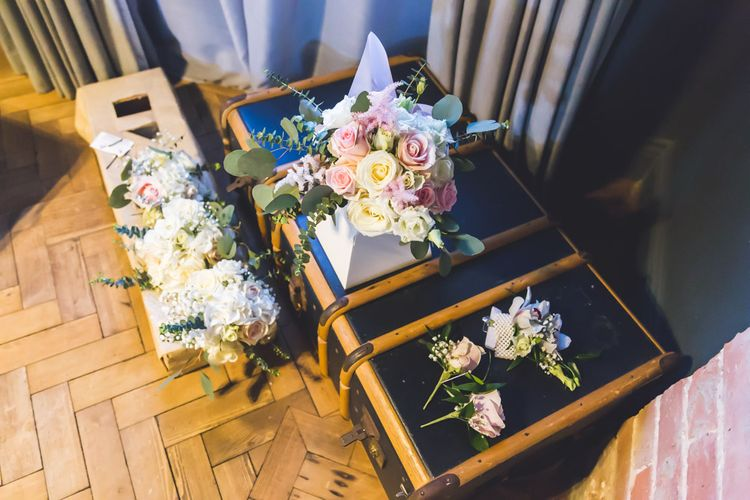 Wedding Bouquets In Pastel Colours // Le Petit Chateau Northumberland Wedding Venue For Fun Wedding With Two Brides And Images From Willo Photography