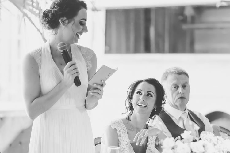 Wedding Speeches // Le Petit Chateau Northumberland Wedding Venue For Fun Wedding With Two Brides And Images From Willo Photography
