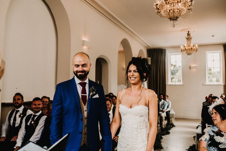 Glamorous Iscoyd Park Wedding With Burgundy, Navy And Ivory Colour Scheme With Artistic And Alternative Images From Carla Blain Photography