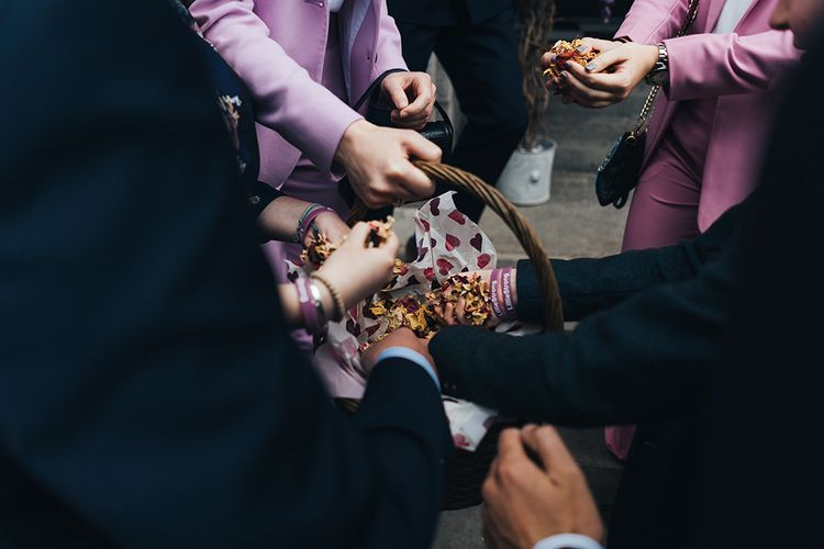 Guests Take Confetti To Throw