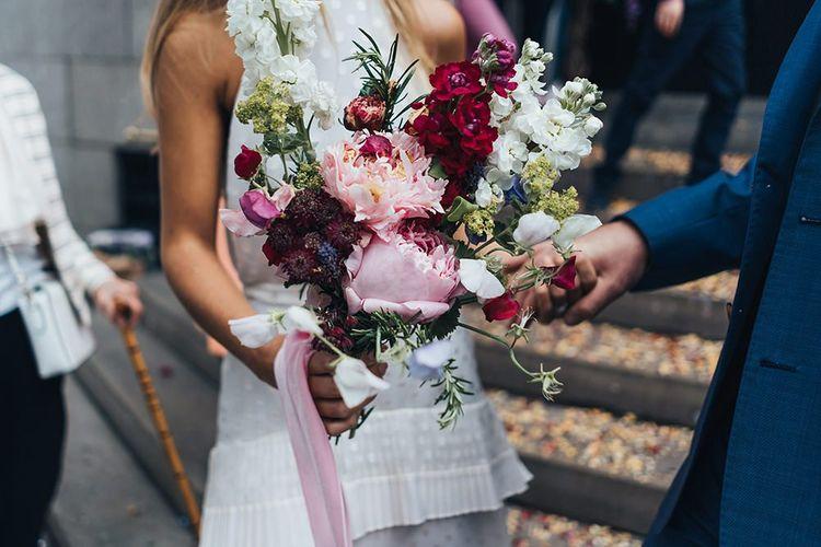 Pink Flower Bouquet From Garden