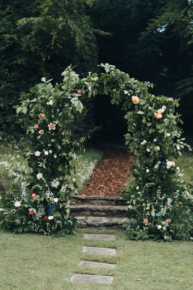 Foliage and Flower Arch in the Garden
