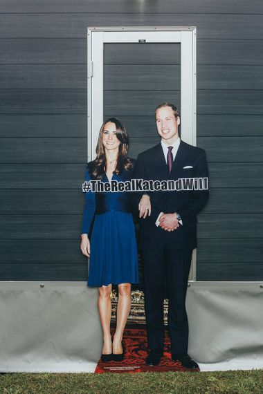 Cardboard Cutout of The Duke and Duchess of Cambridge When They Got Engaged