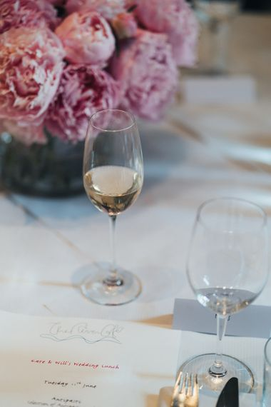 Wedding Lunch Wine and Stationery