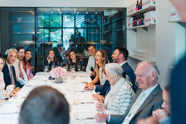 Guests Enjoy Wedding Lunch