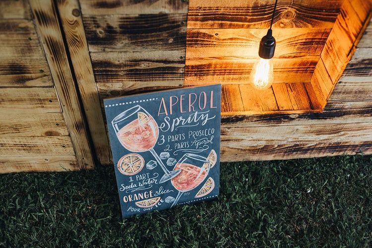 Aperol Spritz Chalkboard Bar Sign