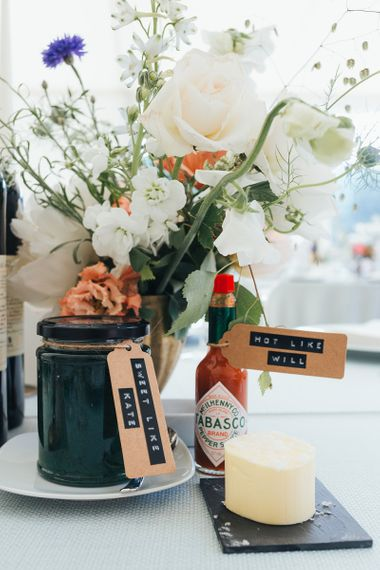 Homemade Chutney and Sauces on the Wedding Breakfast Tables