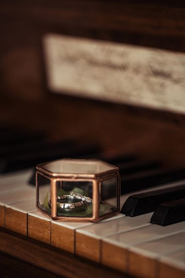Ring Box In Gold and Glass