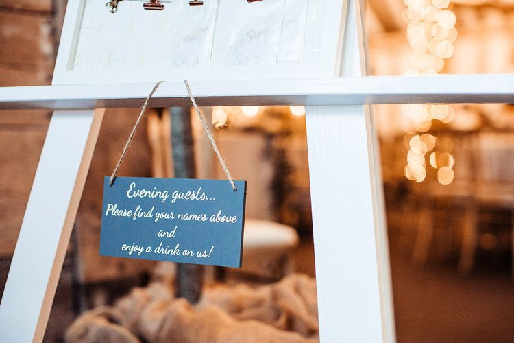 Wedding Signs For Evening Guests