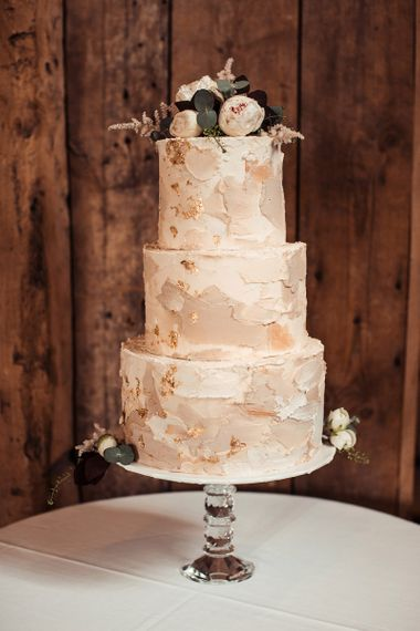 Tiered Blush Wedding Cake
