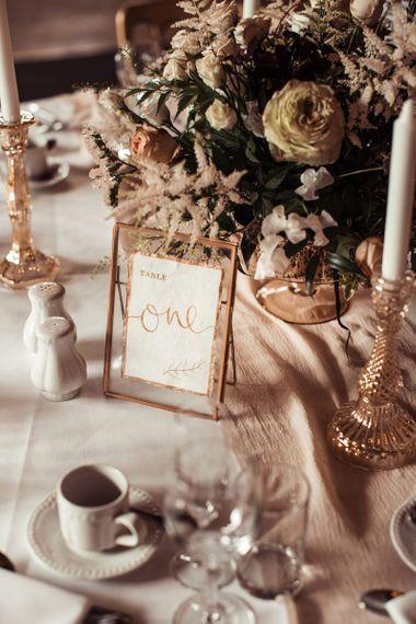 Wedding Table Names In Frames For Barn Wedding