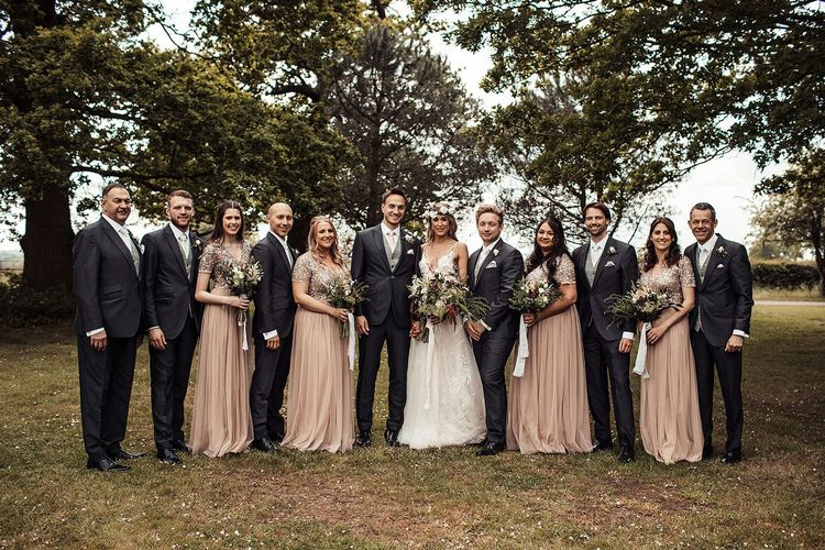Bridal Party and Groomsmen For Barn Wedding