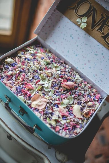 Real flower confetti from Shropshire Petals