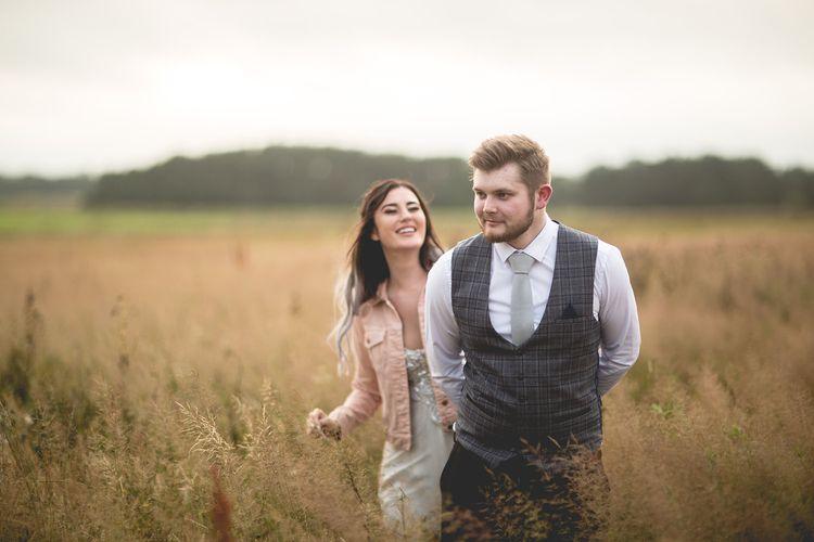 Bride and groom at Northumberland wedding venue