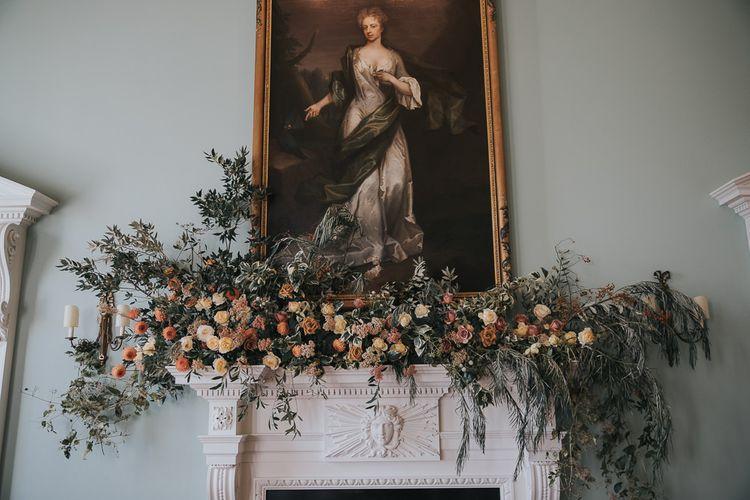 Flower Decoration for Ceremony Room at Kirtlington Park Wedding Venue