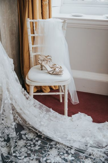 Bridal Shoes Strap Sandals With Lace Dress