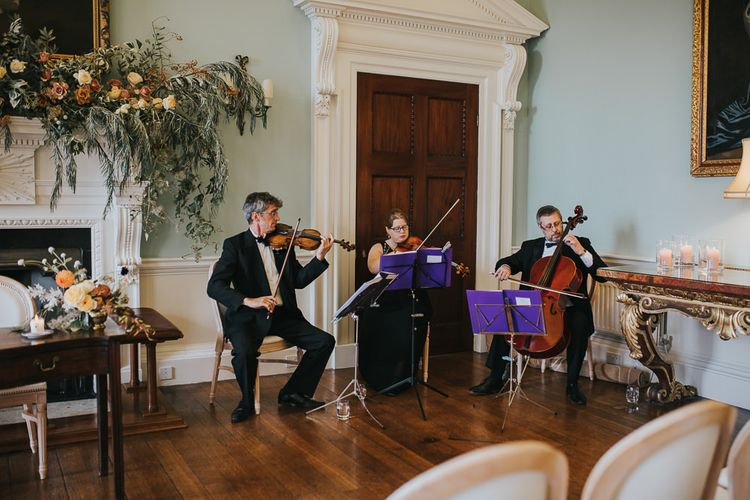 String Instruments Play During Wedding Ceremony at Oxfordshire Wedding Venue