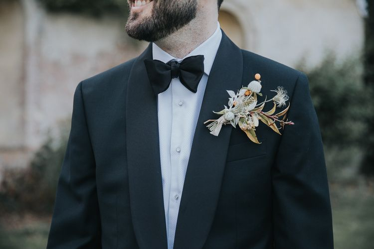 Groom In Tux With Buttonhole
