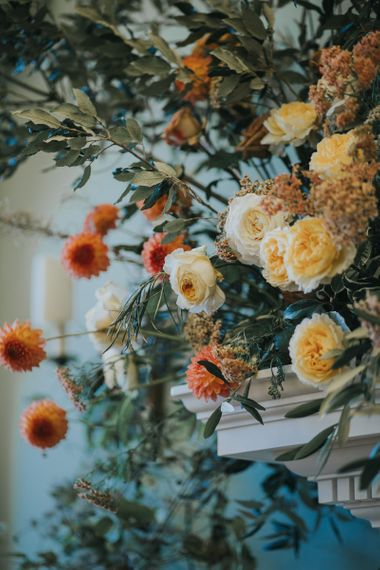 Wedding Flowers In Orange and Yellow