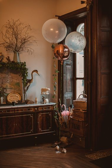 Giant Balloons Wedding Decor featured on escape to the chateau