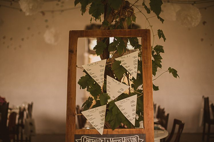 Bunting Table Plan on Wooden Frame