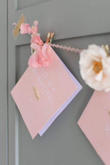 Pink To My Bridesmaid Wedding Day Thank You Card