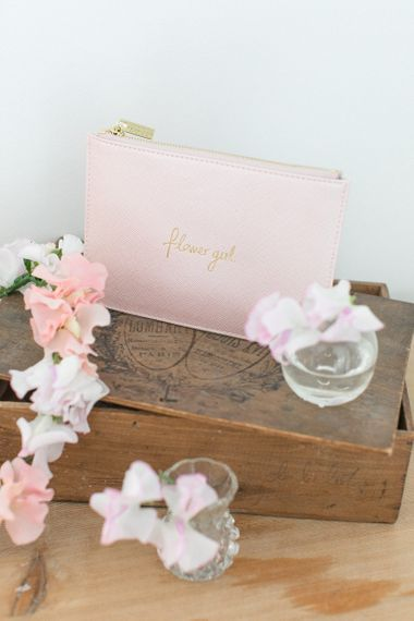 Baby Pink Katie Loxton Perfect Pouch for a Flower Girl